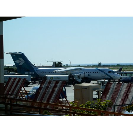 Canvas Print Astra Airlines BAe 146-300, Rhodes International Airport, Diagoras, 2009. Stretched Canvas 10 x