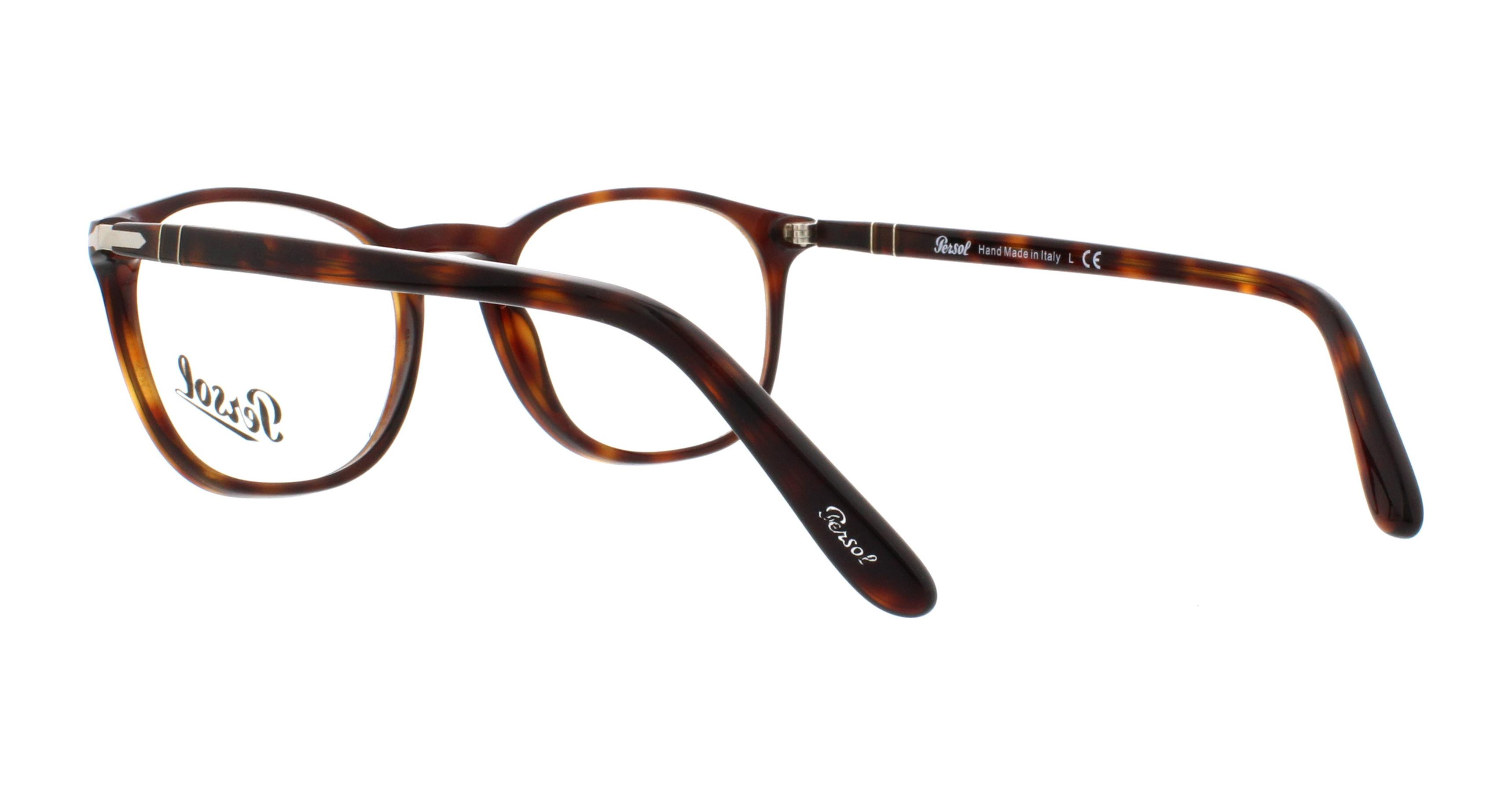 50d6251e9ef3 PERSOL Eyeglasses PO3007V 24 Havana 50MM - Walmart.com