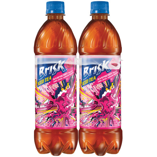 Brisk Raspberry Iced Tea, 24 fl oz, 4-Pack
