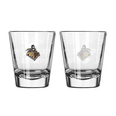 Purdue Boilermakers Shot Glass - 2 Pack Satin Etch