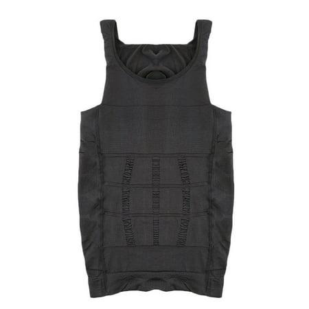 Men Slim Body Shaper Belly Fatty Underwear Vest Shirt Corset Compression Tops - image 6 of 10