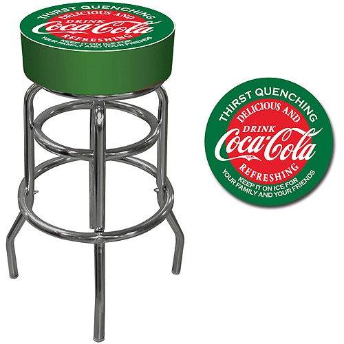 "Trademark Global Coca-Cola 30"" Pub Stool, Red/Green"