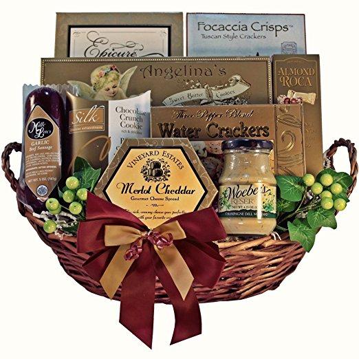 Grand Edition Gourmet Food and Snacks Gift Basket, MEDIUM (Chocolate Option)