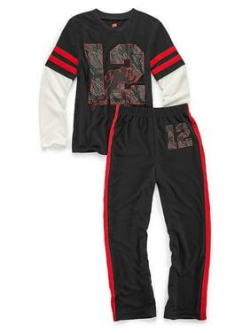 Boys' Sleepwear 2-Piece Set, Varsity Print 6019B