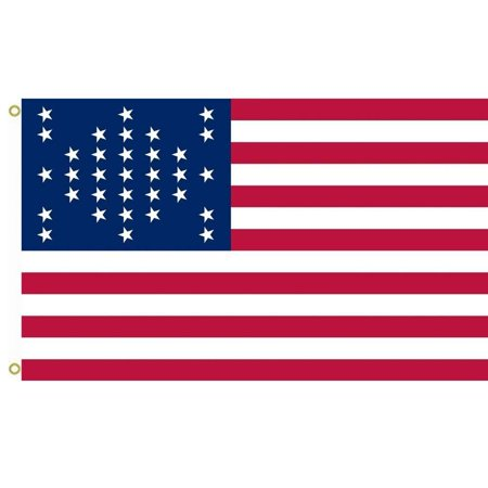 US 33 Star Fort Sumter Flag outdoor flag 3x5ft, Material: 100% Polyester By X14,USA