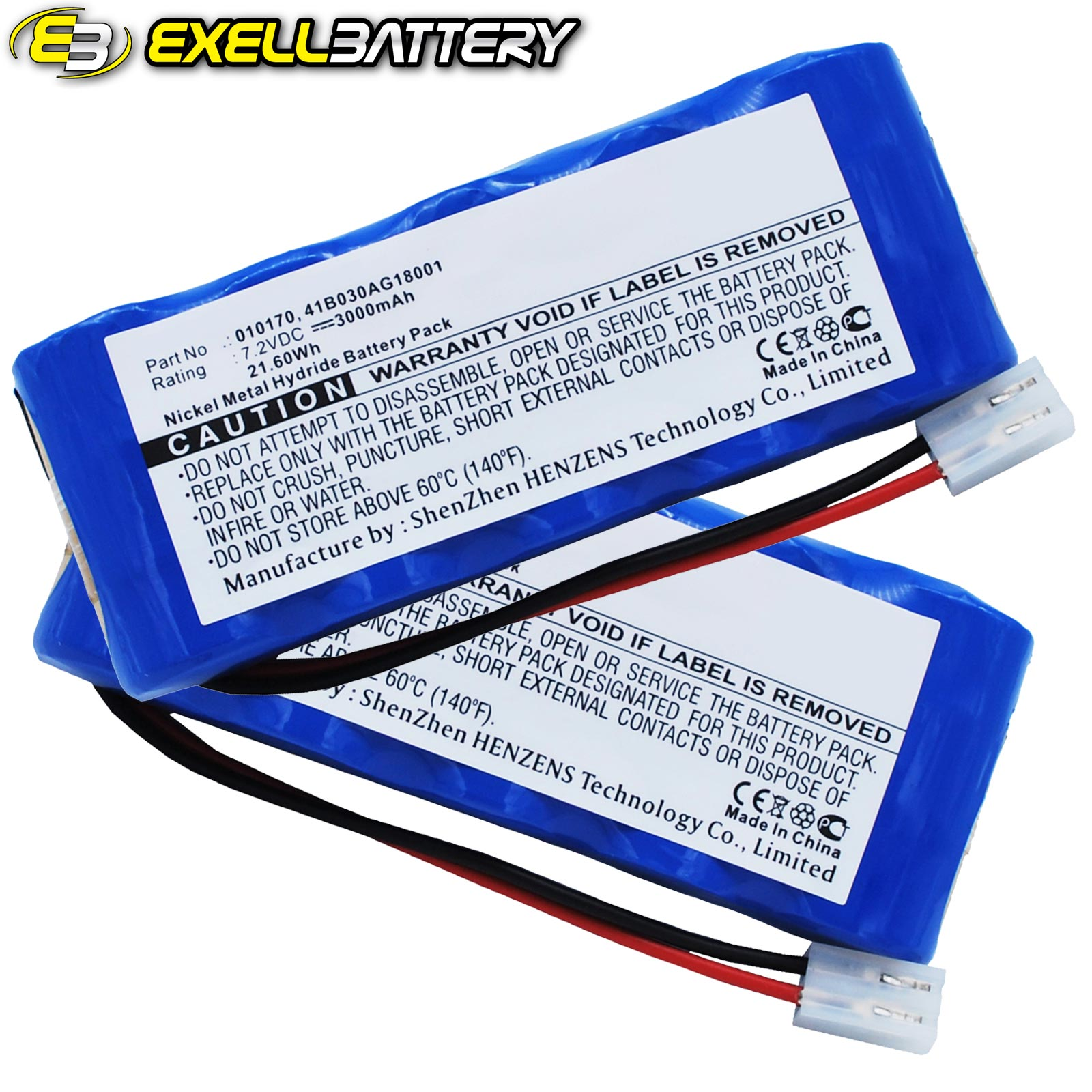 2x 7.2V 3000mAh Medical Batteries For Kangaroo 010170 41B...