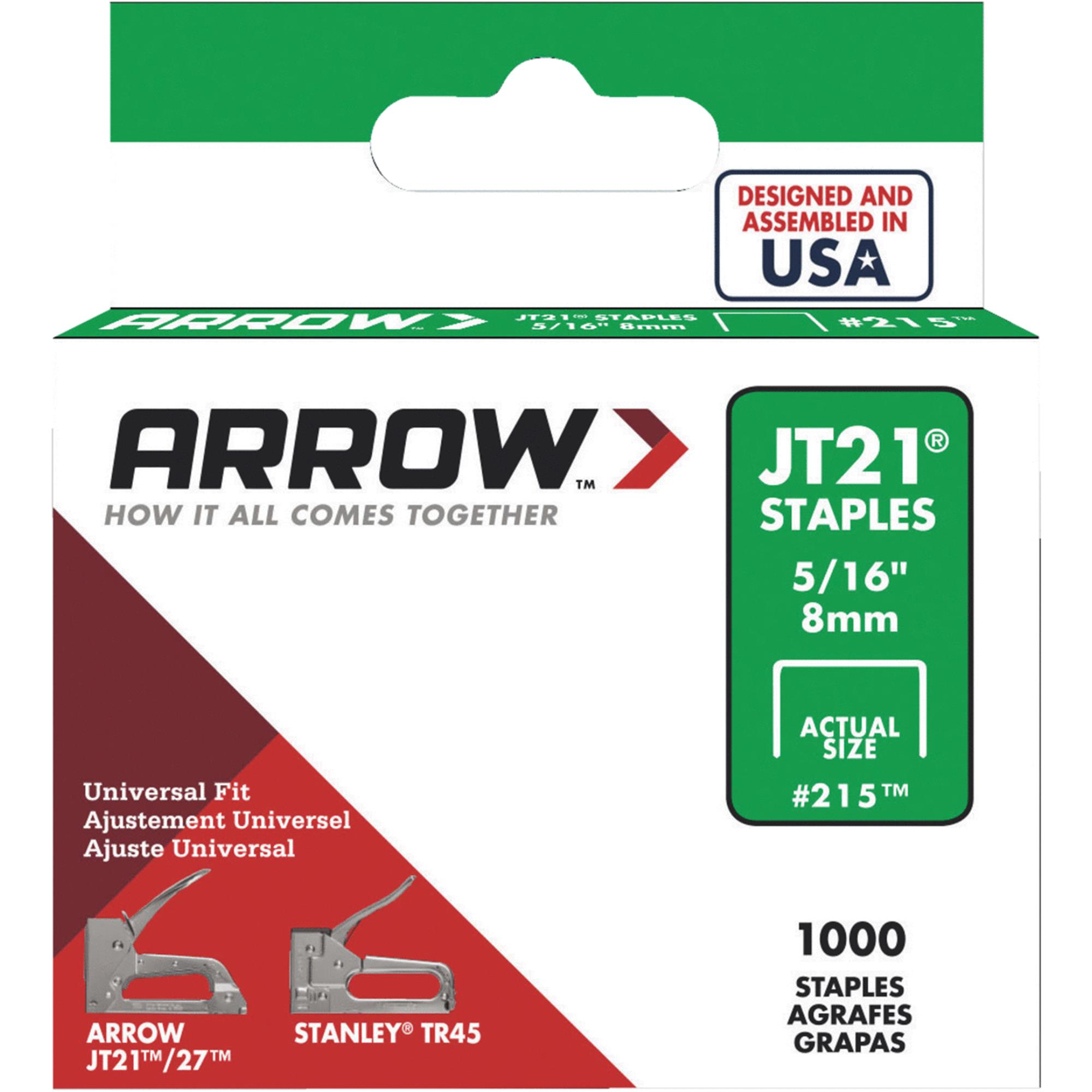 "Arrow Fastener 215 5/16"" JT21 Staples"