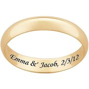 Personalized Women's 10kt Gold Inside Engraved Message Band