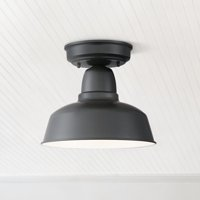 "John Timberland Urban Barn 10 1/4"" Wide Black Outdoor Ceiling Light"