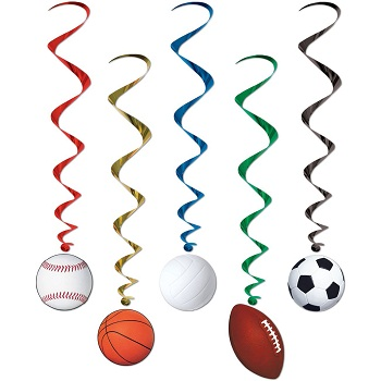 Sports Whirls Party Accessory 5 Count