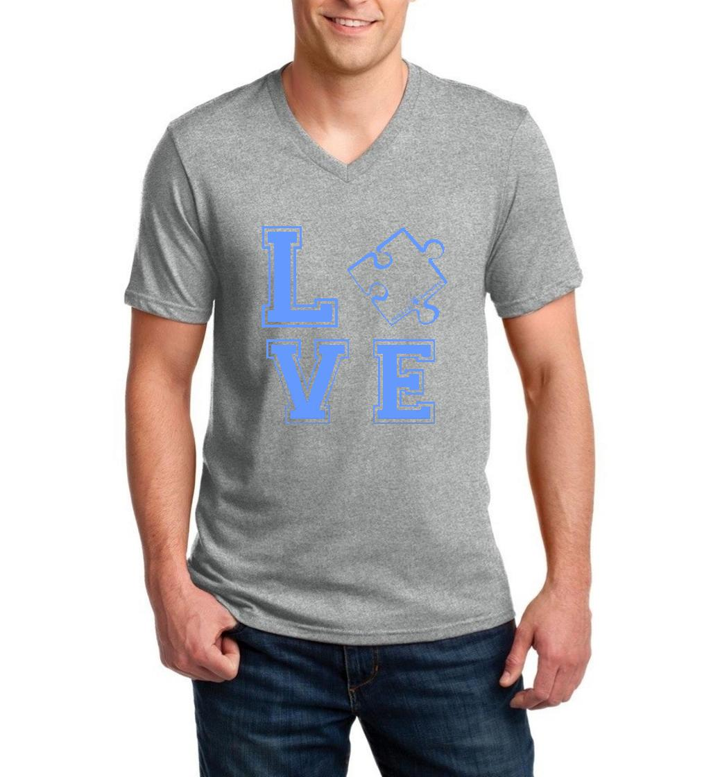 Loved One Autism Awareness Match w Autism Products Style w Hats Bags Pants Jeans Men V-Neck Shirts Ringspun