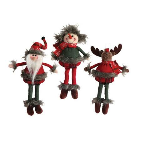 - Santa's Workshop 3 Piece Homespun Ornament Set