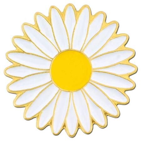 Enamel Flower Daisy - PinMart's White Daisy Flower Spring Time Easter Enamel Lapel Pin