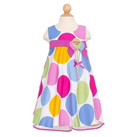 Baby Girls Size 18M Pastel Dot First Birthday (Bonnie Baby Large Dots Birthday Dress With Headband)