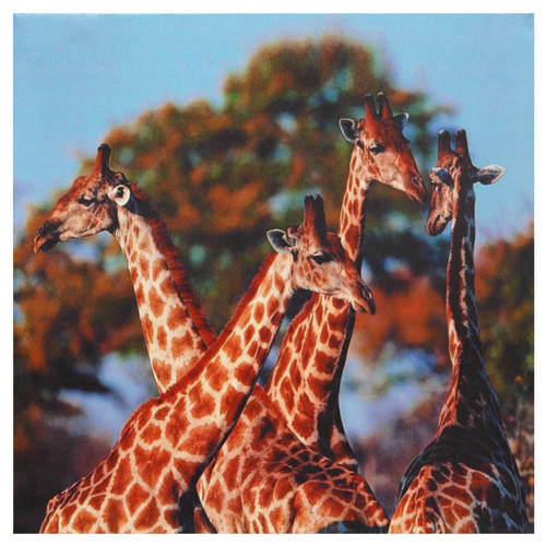 Oriental Furniture Four Prairie Giraffes Photographic Print on Wrapped Canvas