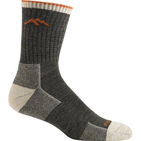 Darn Tough Coolmax 1/4 Sock - Darn Tough Vermont Merino Wool Micro Crew Sock Cushion,Olive,Medium