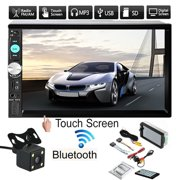 """7"""" HD bluetooth Touch Screen 2-Din Car Stereo Radio MP5 Player FM AUX USB SD with Rear View Camera + Remote Controller"""