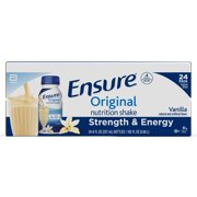 Ensure Original Nutrition Shake with 9 grams of protein, Meal Replacement Shakes, Vanilla, 8 fl oz, 24 count