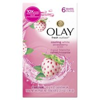 Olay Fresh Outlast Cooling White Strawberry & Mint Beauty Bar 4 oz, 6 count