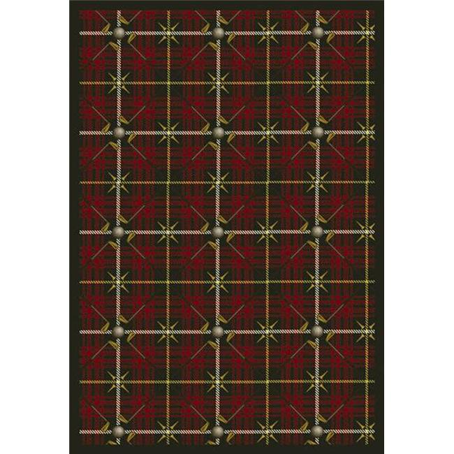 "Joy Carpets Games People Play - Gaming & Sports Area Rugs Saint Andrews, 3'10"" x 5'4"", Tartan Green"