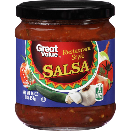 Great Value Restaurant Style Salsa, 16 oz