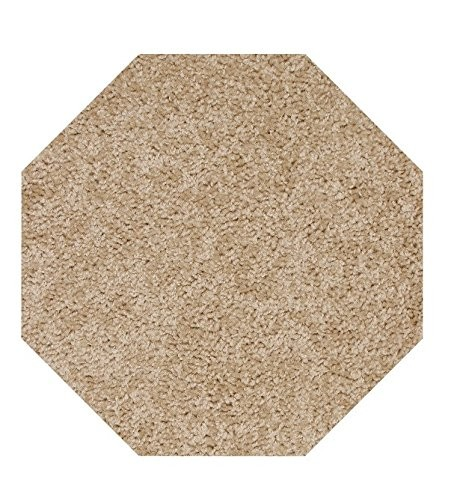 Home Queen Solid Color Octagon Shape Beige 8u0027 Octagon   Area Rug