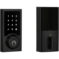 Kwikset 915 Touchscreen Contemporary Electronic Deadbolt featuring SmartKey Security™ in Satin Nickel