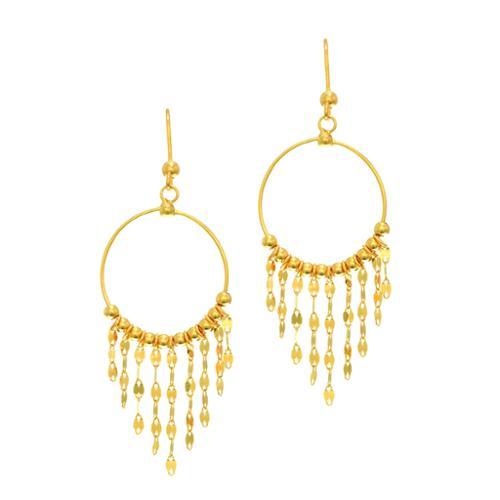 Karat Rush 14k Yellow Gold Shiny Chandelier Earrings