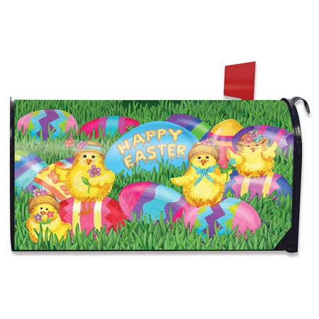 Happy Easter Chicks Mailbox Cover Decorated Eggs Briarwood Lane Standard