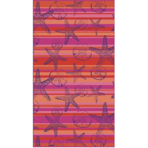 Better Homes and Gardens Starfish & Sand Dollars Striped Beach Towel