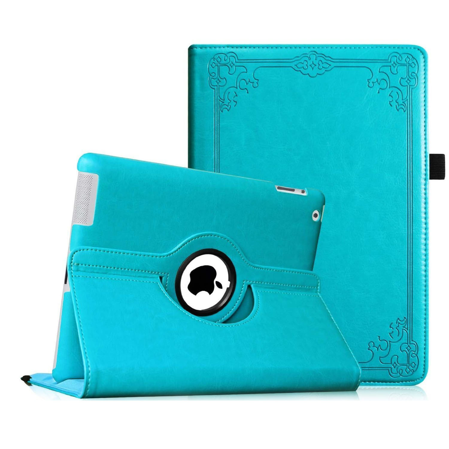Fintie Apple iPad 2/3/4 Case - 360 Degree Rotating Stand Smart Cover (with Auto Wake/Sleep), Vintage Winter Ice
