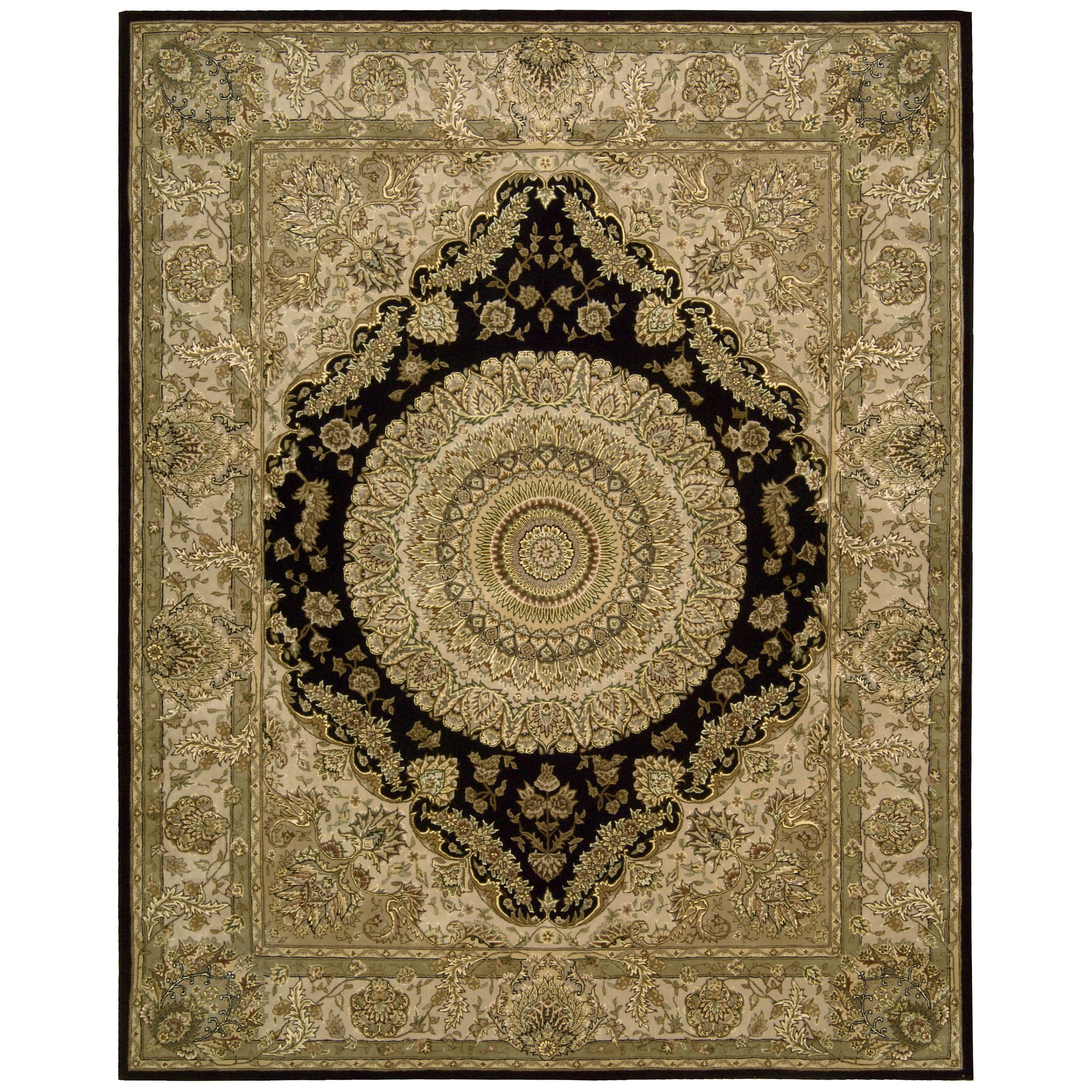 Nourison 2000 2233 Oriental Rug Black-7.6 x 9.6 ft. Oval by Overstock