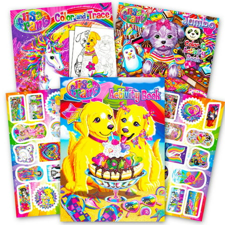 Lisa Frank Coloring Book and Stickers Super Set (3 Books with Over 30 Lisa Frank Stickers) ()