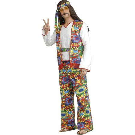 Hippie Man Adult Halloween Costume - Hippie Halloween Costumes Guy