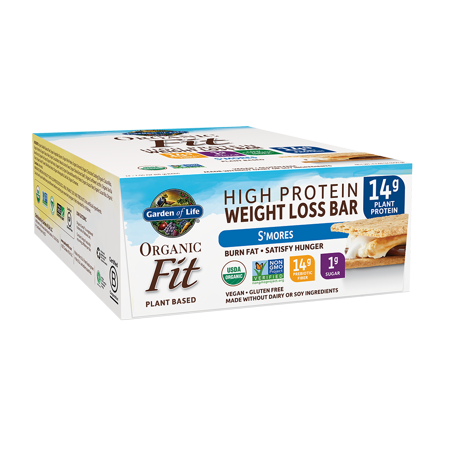 Garden of Life Organic Fit Bar, S'mores, 14g Protein, 12