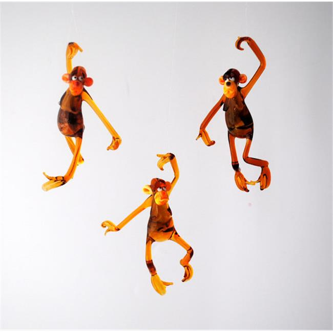WGK Glass e30-24 Ornament - Hanging Monkey