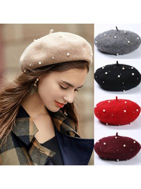 Sweet Women Girl Beanie Beret Winter Warmer French Artist Hat Ski Cap Solid Gift