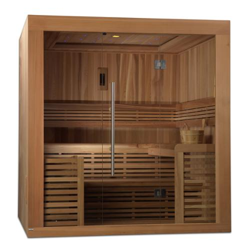 GDI Oslo 4-6 Person Natural Canadian Red Cedar Luxury Edition Traditional Steam Sauna by Overstock