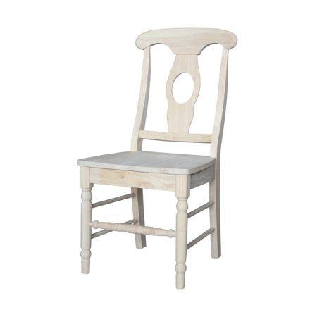 Empire Chair with Oiled Wood Seat, Unfinished (Fabric Unfinished Chair)