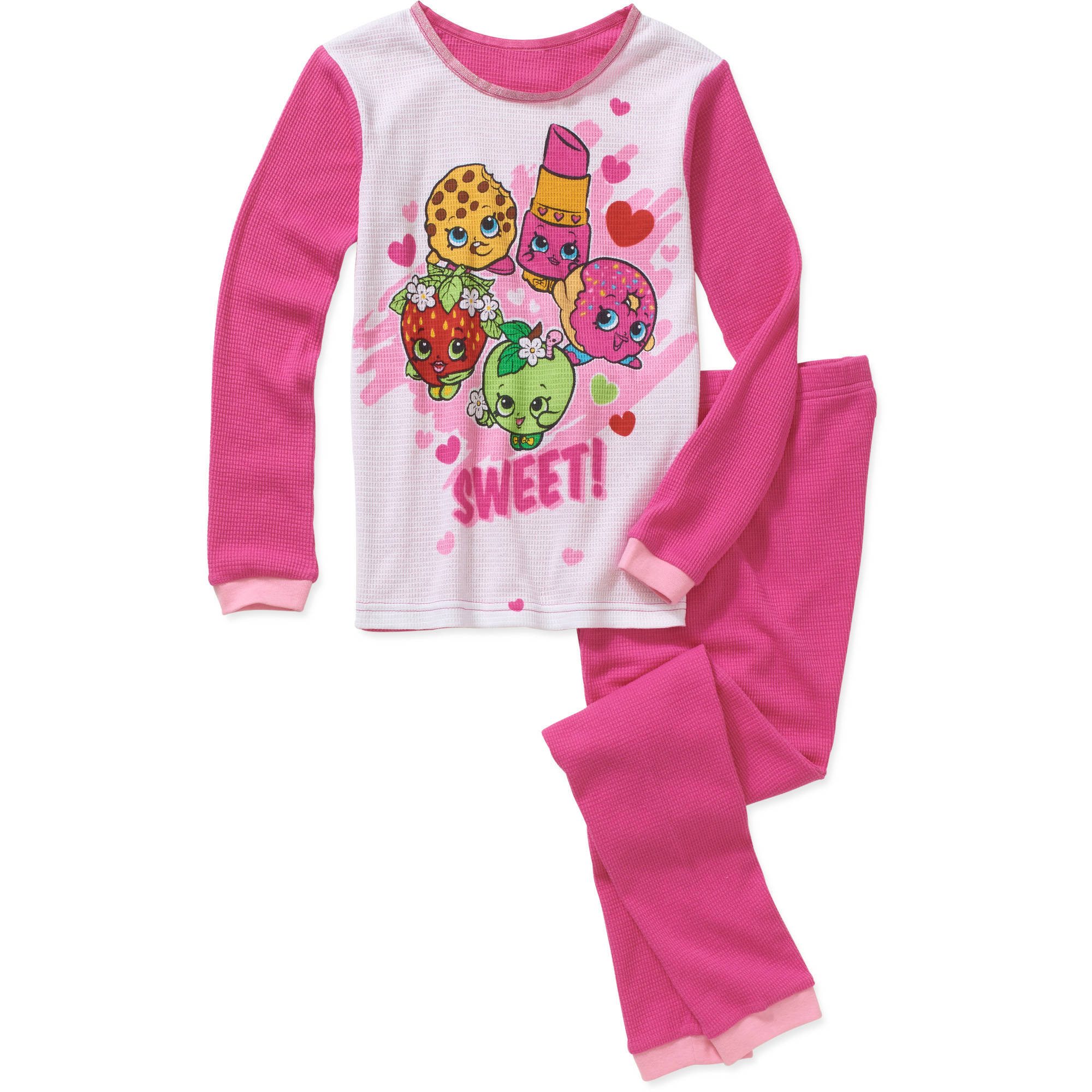 Girls' Licensed Cotton Thermal 2 Piece Set