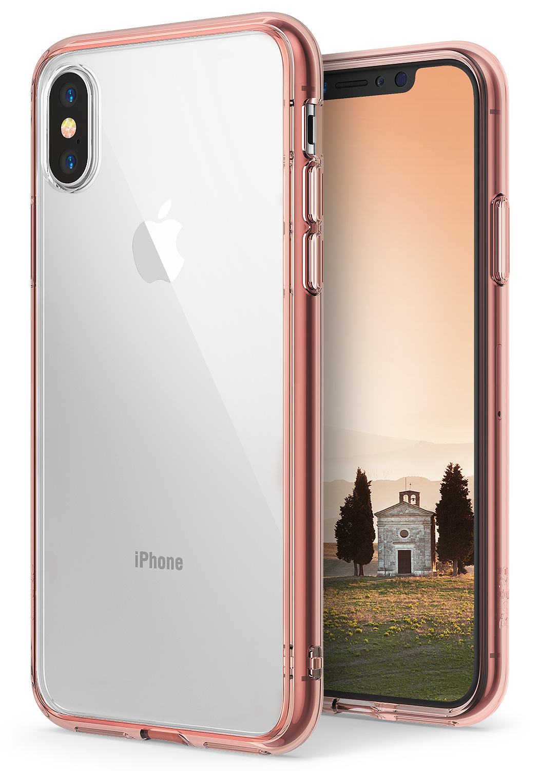 Apple IPhone X Phone Case, IPhone 10 Case, Ringke [FUSION] Clear Minimalist  Transparent PC Back TPU Bumper [Drop Protection] Scratch Resistant  Protective ...