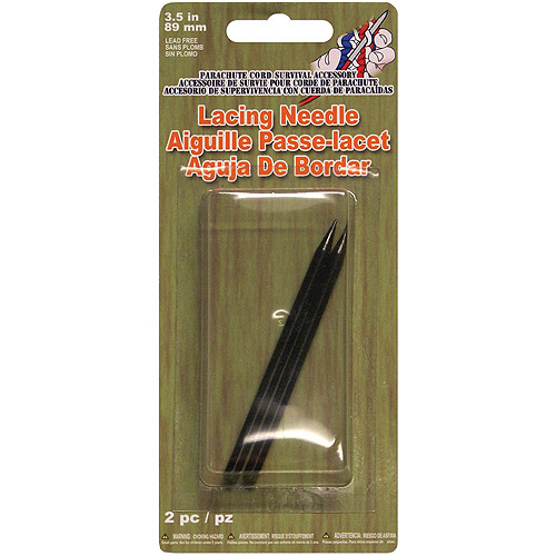 Parachute Cord Lacing Needles, 2-Pack