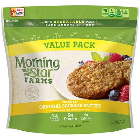 Morning Star Farms Breakfast Original Sausage Veggie Patties 12 Ct 16 Oz