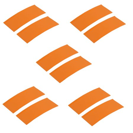 10pcs 23mm Width 53mm Long PVC Heat Shrinkable Tube Orange for AA Battery Pack - image 3 de 3