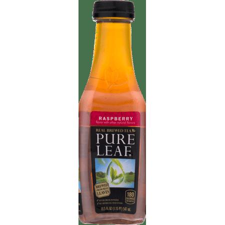 (12 Bottles) Pure Leaf Iced Tea, Raspberry, 18.5 Fl Oz
