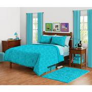 Your Zone Peacock Plume Mink Mum Bedding Comforter Set, 1 Each
