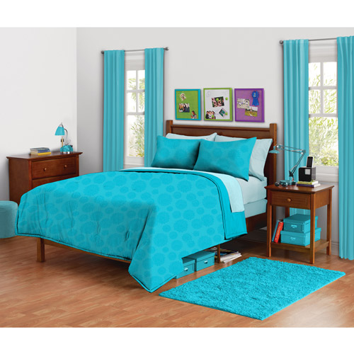 Your Zone Mink Mum Bedding Comforter Set Peacock Plume