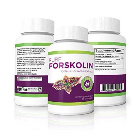 100% Pure Forskolin Diet Pills - Maximum Strength Fat Burner & Muscle