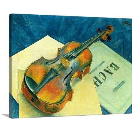 1921 Oil (Great BIG Canvas Kuzma (1878-1939) Petrov-Vodkin Premium Thick-Wrap Canvas entitled Still Life with a Violin, 1921 (oil on)