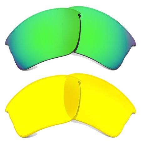 FLAK JACKET XLJ Replacement Lenses Hi Yellow & Green by SEEK fits OAKLEY (Flak Jacket Gläser Polarisiert)